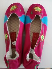 Women's Floral Embroidered Mary Jane Cotton Shoes Slippers Sizes 36 New