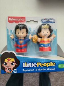 NEW Fisher-Price Little People DC Super Friends Superman & Wonder Woman Fall2020