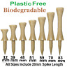 CASTLE Golf Tees Tee BAMBOO WOOD (Wooden) BIODEGRADABLE ZERO WASTE. PLASTIC FREE