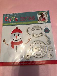 SARA DAVIES CUTE CHRISTMAS BUILD A SNOWMAN CUT/EMBOSS DIES.