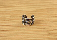 Sterling Silver Ear Cuff Antique Style 925 Band Earring Celtic Tribal Rope