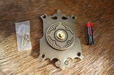 Sólido Latón Antiguo Decorativo gran proyecto de placa de campana de empuje Reemplazo Nuevo B