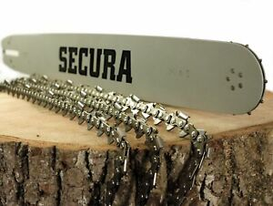 Schwert + 3 Ketten passend Dolmar PS32 35cm 3/8LP 1,3mm 52TG 412035661 SECURA