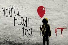 IT YOU'LL FLOAT GRAFITTI - 36X24 POSTER - Bill Skarsgård James McAvoy