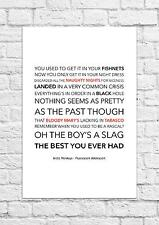 Arctic Monkeys - Fluorescent Adolescent - Song Lyric Art Poster - A4 Size