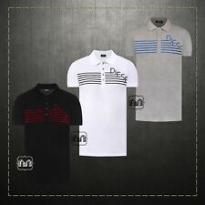 New Authentic 120$ Men Diesel Polo Shirt Black Gray White T-Diego QA Pique NWT