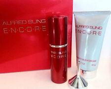 Encore By Alfred Sung Pure Perfume Spray Refillable .30fl.oz 9 ml+Body Lot.30ML.