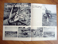 1941 Photo Article Ad WW 2   Field Artillery 75 MM Guns