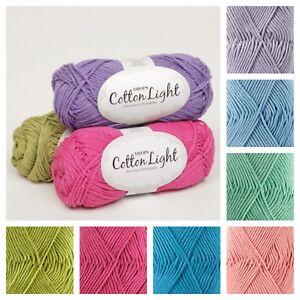 New Drops Cotton Light Dk Double-knit Knitting Eco Yarn Crochet Cool Breathble