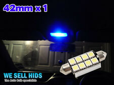 1x Blue Interior Courtesy Light LED [F6,264,42mm Festoon] Upgrade Bulb Audi