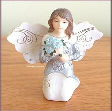 """APRIL MONTHLY ANGEL FIGURINE 3"""" HIGH BY PAVILION ELEMENTS FREE U.S. SHIPPING"""
