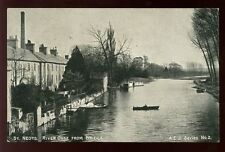 Huntingdonshire ST NEOTS Ouse from bridge c1900s? PPC A.E.J. Series