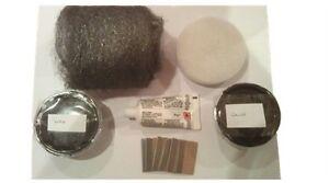 Black Repair Kit for Joints Chips Granite Marble Slate Epoxy Resin Wax etc