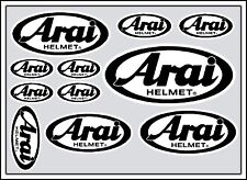Arai Decal Set 11 Calidad Impresas Y Laminado Casco pegatinas