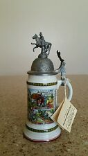 RARE IMPORTED MINI BEER STEIN WITH ORIGINAL TAG - HOUSE OF GOEBEL HANDELGES