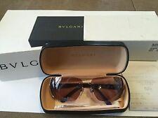 AUTHENTIC BVLGARI Sunglasses 649B Crystal Shield Rimless Visor Made Italy w box