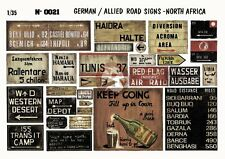 Verlinden 1/35 German and Allied Road Signs in North Africa WWII (Diorama) 21