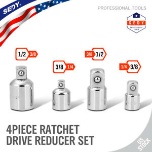 """4PC Ratchet wrench Socket Drive Adapter Reducer Air Impact Set  3/8"""" 1/4"""" 1/2"""""""