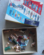 Vintage O Scale Plasticville Citizens People Figures Kit in Box 1619 100