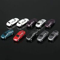 Model Car Vehicles Train Scenery Layout Accessories Scale 1:100 Painted 10pcs