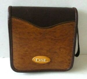 DSL Leather Look Travel Case for CDs/DVDs in Excellent Condition.