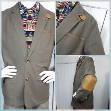 Orvis Jacket Sz 40 Zambezi Leather Trim Elbow Patch Coat Safari Travel Outback