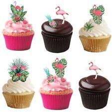 Flamingo Eßbar Tortenbild Party Deko Muffinaufleger Cupcake Tortendeko neu