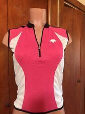 Descente size M Women s Sleeveless Cycling Jersey. Pink 885125d9f