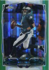 Chrome Football 2014 Green Refractor Card #109 Nick Foles - Philadelphia Eagles