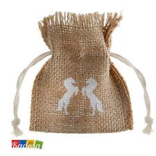 4 pz Bustine Porta confetti Juta Cavalli Country Matrimonio Sacchetti Wedding
