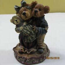 Boyds Bears Figurene Style 227731 Momma & Poppa McNewBear &Baby Bundles