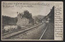 Postcard KEYSER West Virginia/WV  Railroad Locomotive at Lovers Leep view 1906