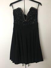 TFNC Halo Embellished Black Dress Size S