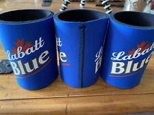 New Labatt Blue Beer Foam 12 Oz Can Bottle Koozie Coozie 3 Pack