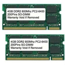 8GB Kit 2x 4GB DDR2 800 MHz PC2-6400 Sodimm Memory for IBM Lenovo HP Dell Laptop