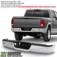 Rear Step Bumper Face Bar Mega Cab CarPartsDepot 341-17247-20-BK CH1102352 5073625AD