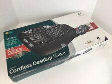 Logitech Cordless Desktop Wave Wireless Keyboard & Laser Mouse w/ Receiver