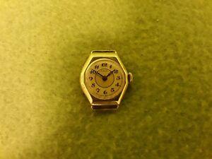 Gold 585 Damen Armbanduhr LACO: Werk: Glashütte: Reines Gold Gewicht 3,26 Gramm