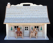 """Woodorking plan for building a log doll house & furniture for 6"""" dolls"""