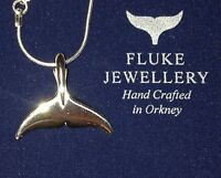 Bottlenose dolphin fluke pendant Sterling Silver Sea Shepherd, Fluke Jewellery