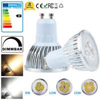 GU10 LED Bulb Dimmable Spotlight Replace Halogen Lighting Lamp 9W 12W 15W