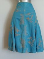 STUNNING APPLIQUE SKIRT BY S. OLIVER SIZE 12 , HOLIDAY, INFORMAL, CASUAL