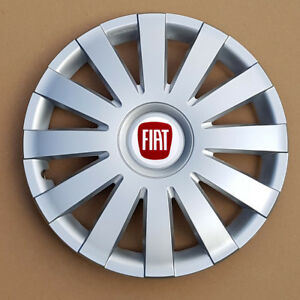 """Full set silver  14"""" wheel trims, hubcaps to fit FIAT 500"""