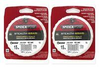 (2) Spiderwire Stealth-Braid 15 Lb Moss Green Braided Line 125 Yds New