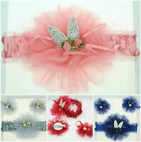 Headband Ribbon Elastic 3pcs/ Set Baby Girl Headdress Bunny Style Hair Band Gift