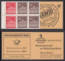 Berlin Markenheftchen 6 d ** Brandenburger Tor 1970  postfrisch M€ 240,-  TOP !!
