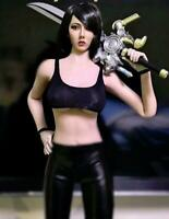 1//6 Scale Black Cropped Tank Top for 12/'/' Female Action Figure Dolll Acessories