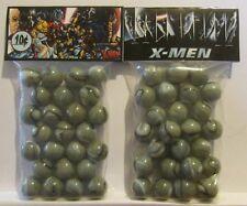 2 Bags Of X-Men Superhero's Promo Marbles