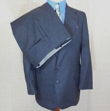 VTG Bespoke HICKEY FREEMAN Mens GRAY 2-Piece Suit Jacket:40;Pants:33 X 29 USA