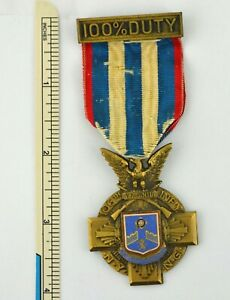 New York. 106th Infantry Regiment 100% Duty Medal. Diegies & Clust Number 71